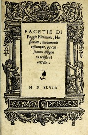 Cover of: Facetie di Poggio firorentino