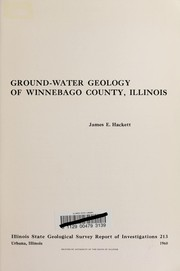 Ground-water geology of Winnebago County, Illinois.