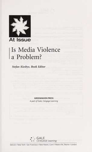 Is media violence a problem? by Stefan Kiesbye, book editor.