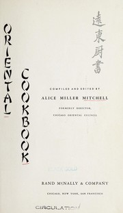 Cover of: Oriental cookbook | Alice Miller Mitchell