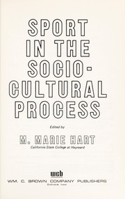Cover of: Sport in the socio-cultural process |