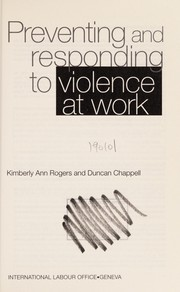 Cover of: Preventing and responding to violence at work