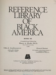 Cover of: Reference Library of Black America