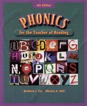 Cover of: Phonics for the teacher of reading: programmed for self-instruction