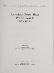 Cover of: American poets since World War II. |