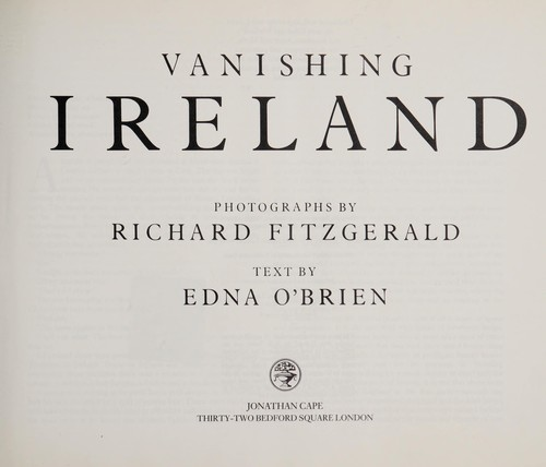 Vanishing Ireland by Fitzgerald, Richard