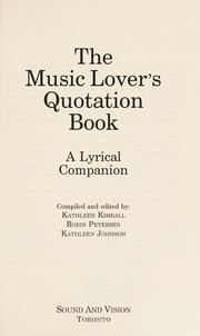Cover of: The music lover