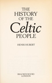 Cover of: History of the Celtic People