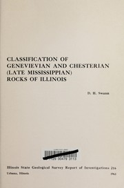 Cover of: Classification of Genevievian and Chesterian (late Mississippian) rocks of Illinois