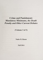 Cover of: Crime and punishment | Nader Hasan