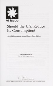 Cover of: Should the U.S. reduce its consumption?