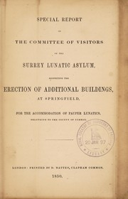 Special report of the Committee of Visitors of the Surrey Lunatic Asylum