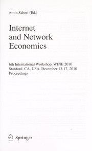 Cover of: Internet and network economics