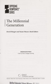 Cover of: The millennial generation