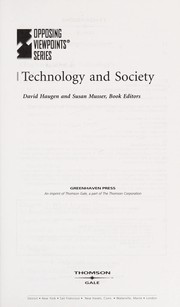 Cover of: Technology and society |