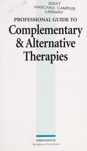 Cover of: Professional guide to complementary & alternative therapies