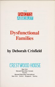 Cover of: Dysfunctional families