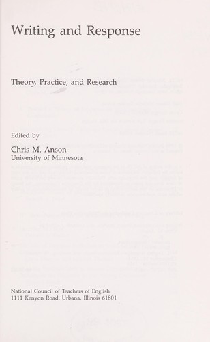 Writing and response by edited by Chris M. Anson.