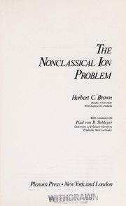 Cover of: The nonclassical ion problem