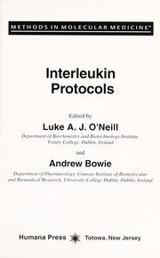 Cover of: Interleukin protocols | edited by Luke A.J. O'Neill and Andrew Bowie.