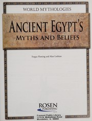 Cover of: Ancient Egypt's myths and beliefs