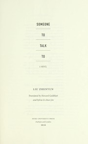 Cover of: Someone to talk to