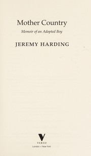 Cover of: Mother country | Jeremy Harding
