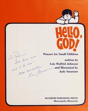 Cover of: Hello, God!: Prayers for small children