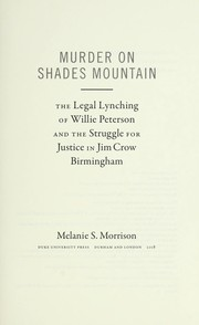 Cover of: Murder on Shades Mountain