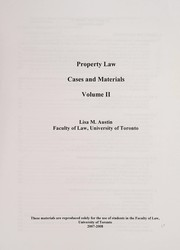 Cover of: Property law | Lisa Austin