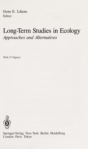 Cover of: Long-term studies in ecology