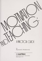 Cover of: Motivation and teaching
