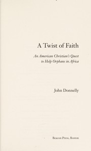 Cover of: A twist of faith