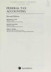 Cover of: Federal tax accounting | Michael B. Lang