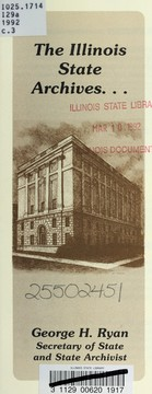 Cover of: The Illinois State Archives-- | Illinois. State Archives Division