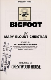 Cover of: Bigfoot