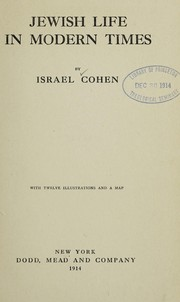 Cover of: Jewish life in modern times