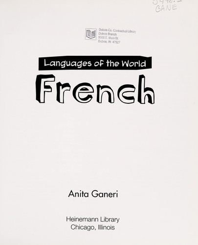 French by Anita Ganeri
