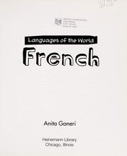 Cover of: French | Anita Ganeri