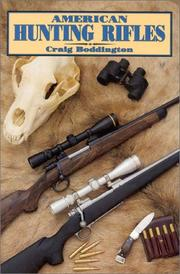 Cover of: American hunting rifles