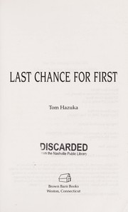 Cover of: Last chance for first