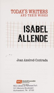Cover of: Isabel Allende | Joan Axelrod-Contrada
