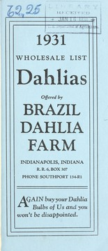 Cover of: Dahlias offered by Brazil Dahlia Farm | Brazil Dahlia Farm