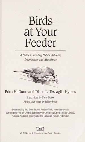 Birds at your feeder by Erica H. Dunn