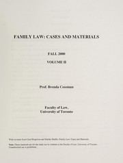 Cover of: Family law