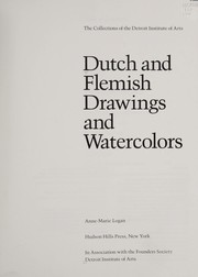 Cover of: Dutch and Flemish drawings and watercolors | Detroit Institute of Arts.