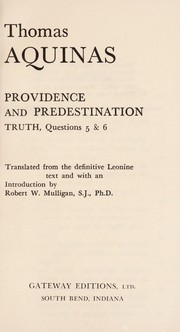 Cover of: Providence and Predestination
