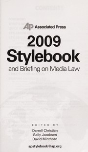 Cover of: Stylebook and briefing on media law |