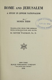 Cover of: Rome and Jerusalem
