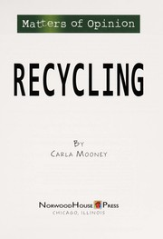 Cover of: Recycling | Carla Mooney